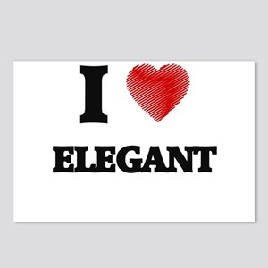 I love ELEGANT Postcards (Package of 8)
