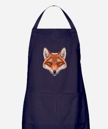 Red Fox Face Apron (dark)
