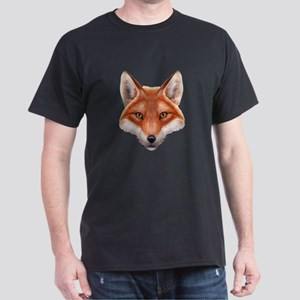 Red Fox Face Dark T-Shirt