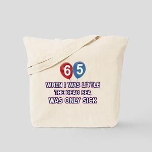 65 year old dead sea designs Tote Bag