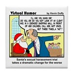 Santa on Trial Tile Coaster