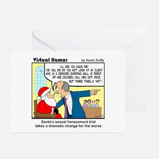 Santa on Trial Greeting Cards