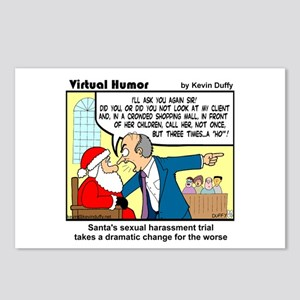 Santa On Trial Postcards (package Of 8)