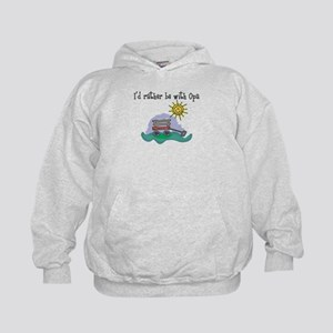 Rather be with Opa Kids Hoodie