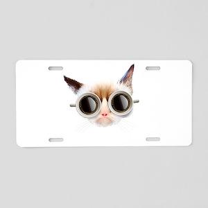 Coffee Cat Aluminum License Plate