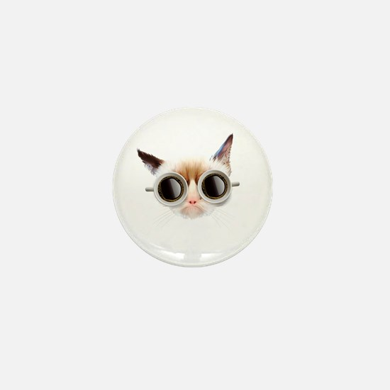 Coffee Cat Mini Button