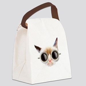 Coffee Cat Canvas Lunch Bag