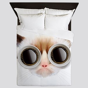 Coffee Cat Queen Duvet