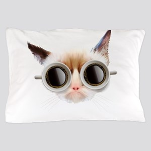 Coffee Cat Pillow Case