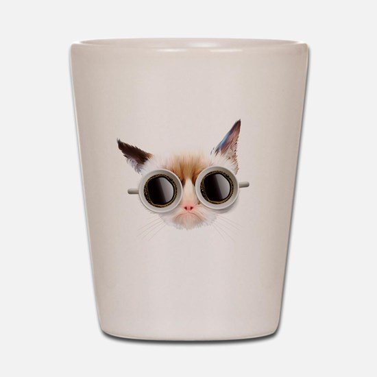 Coffee Cat Shot Glass