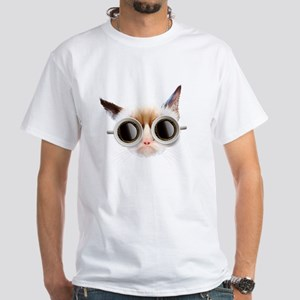 Coffee Cat White T-Shirt