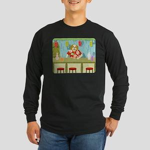 Shih Tzu Tiki Bar Long Sleeve Dark T-Shirt