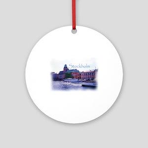 Ferry to Djurgarden Round Ornament