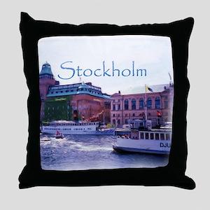 Ferry to Djurgarden Throw Pillow