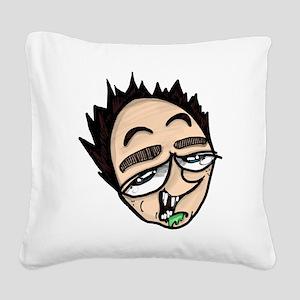 Grandpa sketch Square Canvas Pillow