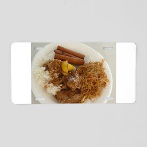chicken adobo,pancit and lu Aluminum License Plate