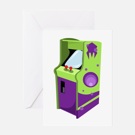 Arcade Game Greeting Cards