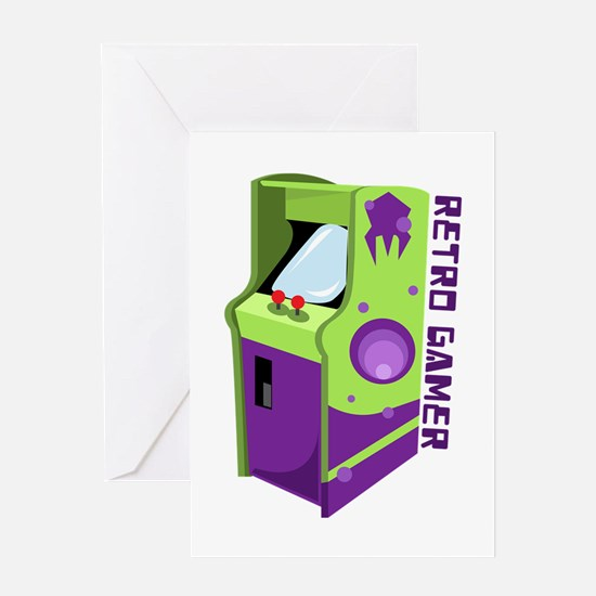Retro Gamer Greeting Cards