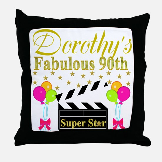 CUSTOM 90TH Throw Pillow