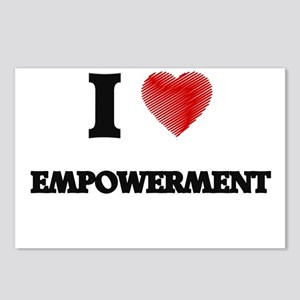 I love EMPOWERMENT Postcards (Package of 8)