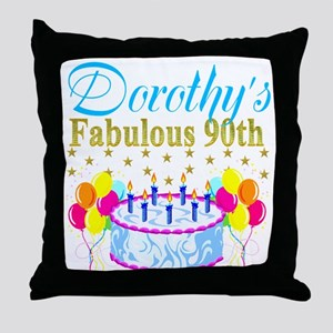CUSTOM 90TH Throw Pillow