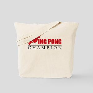 Ping Pong Champion Tote Bag