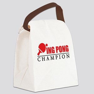 Ping Pong Champion Canvas Lunch Bag
