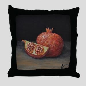 Gourmet Food Pomegranate Throw Pillow