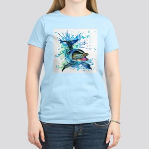 Watercolor Dolphin Women's Light T-Shirt