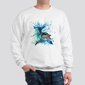 Watercolor Dolphin Sweatshirt