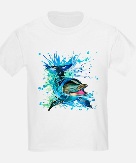 Watercolor Dolphin T-Shirt