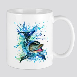 Watercolor Dolphin Mug