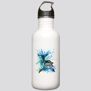 Watercolor Dolphin Stainless Water Bottle 1.0L