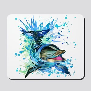 Watercolor Dolphin Mousepad