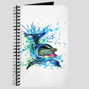 Watercolor Dolphin Journal