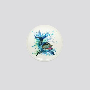 Watercolor Dolphin Mini Button