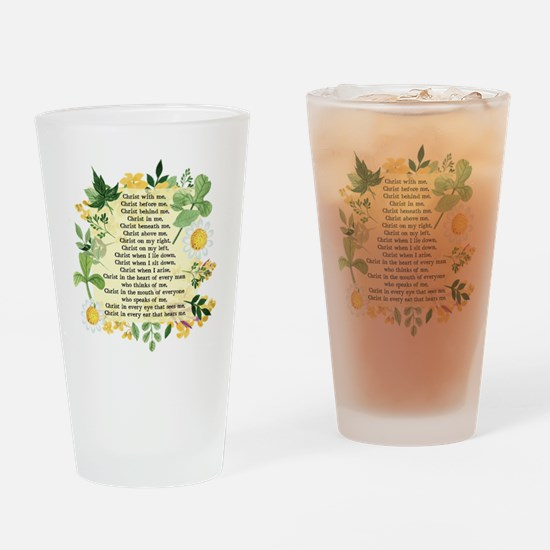 St. Patrick's Breastplate Drinking Glass