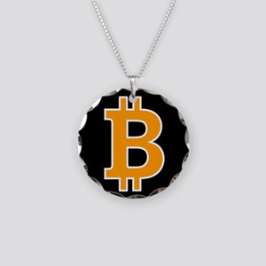 Bitcoin Necklace Circle Charm