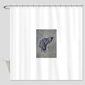 Weimeraner Pedigree Dog Shower Curtain