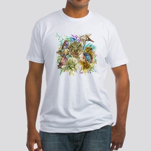 Dinosaur Collage Fitted T-Shirt
