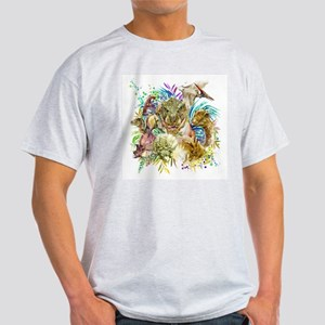 Dinosaur Collage Light T-Shirt