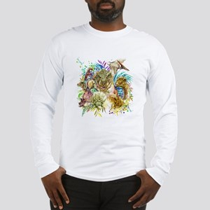 Dinosaur Collage Long Sleeve T-Shirt