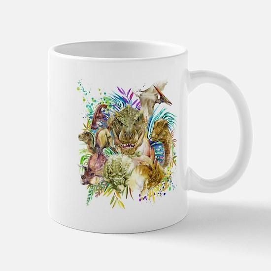 Dinosaur Collage Mug