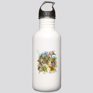 Dinosaur Collage Stainless Water Bottle 1.0L