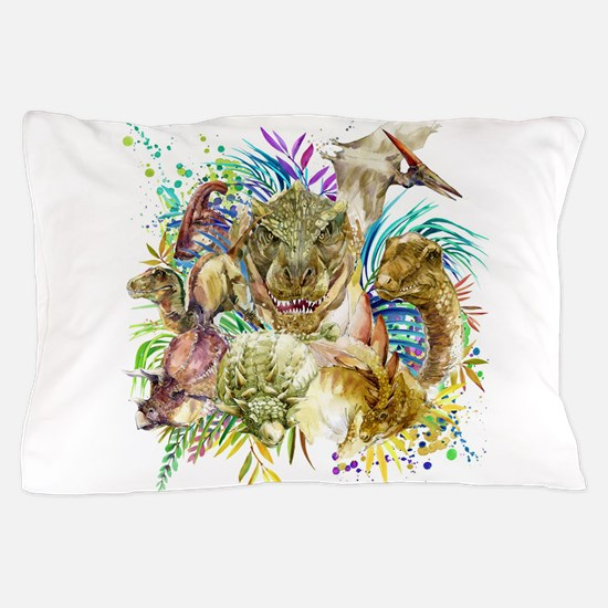 Dinosaur Collage Pillow Case