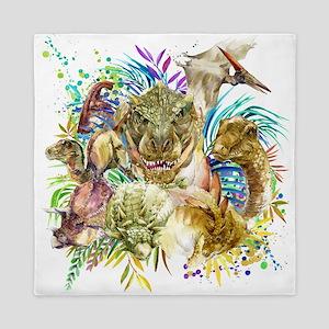 Dinosaur Collage Queen Duvet