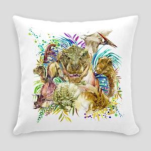Dinosaur Collage Everyday Pillow