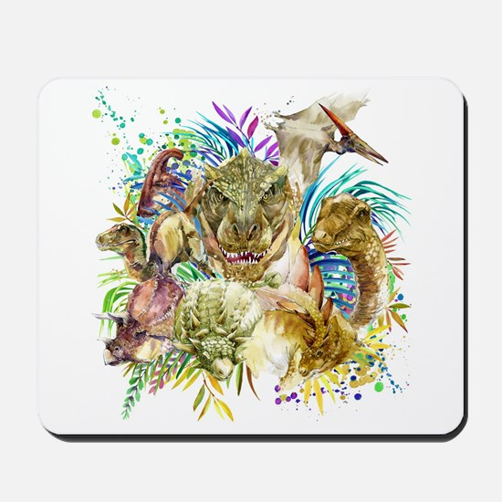 Dinosaur Collage Mousepad
