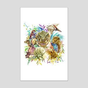 Dinosaur Collage Mini Poster Print