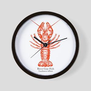River Crayfish Wall Clock